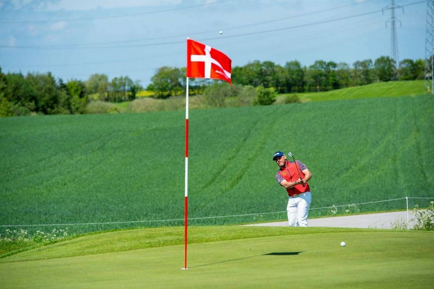 Lee Westwood in action during the first round of the golf tournament Made in Denmark, at the Himmerland Golf Club in Aars, Jutland, on May 23, 2019.