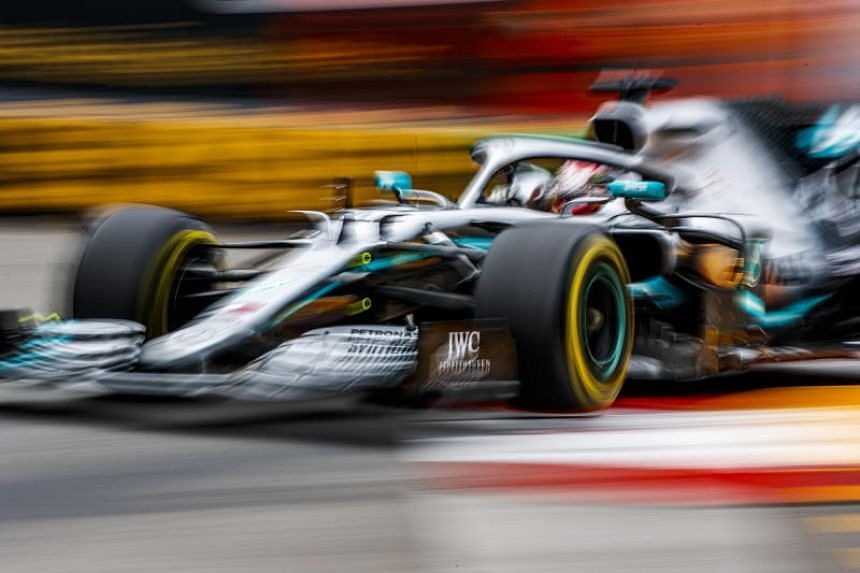 British Formula One driver Lewis Hamilton of Mercedes AMG GP in action during the second practice session at the Monte Carlo circuit in Monaco, on May 23, 2019.
