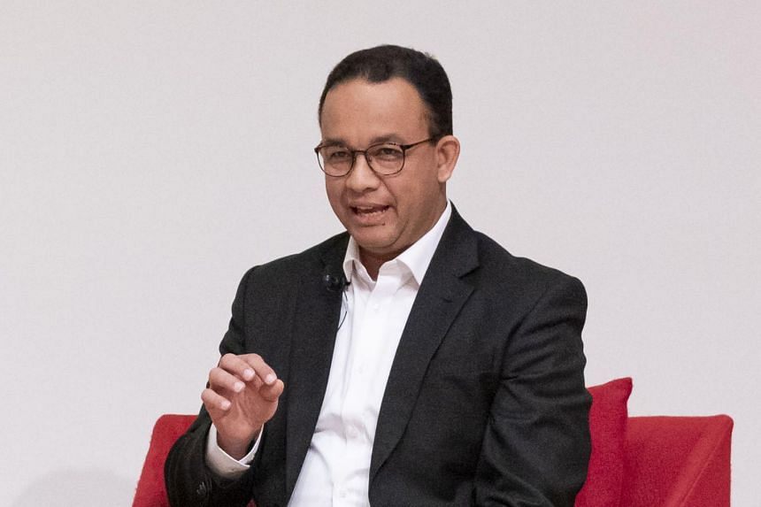 Anies Baswedan, governor of Jakarta, speaking at the Urban 20 Forum in Tokyo, Japan, on May 21, 2019.