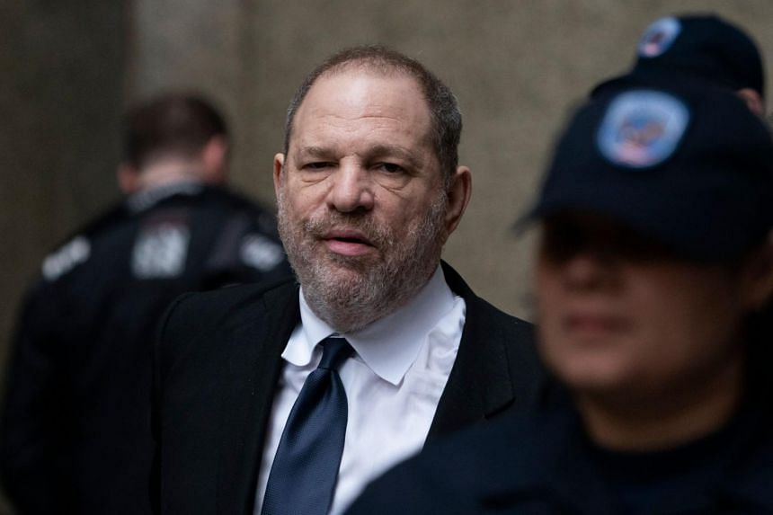 Harvey Weinstein leaves the State Supreme Court on April 26, 2019 in New York, after a break in a pre-trial hearing over sexual assault charges.