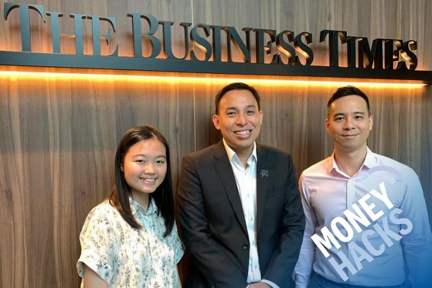 In this sponsored Money Hacks podcast aimed at those in their 20s and who are starting to work, Chris Lim (right) hosts 20-year-old Vanessa Lim (left), a temp at The Business Times, and Mr Kelvin Goh (centre), OCBC Bank's Head of Investments and We