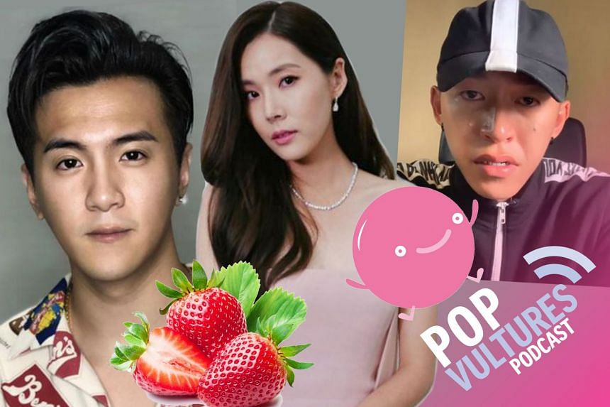 The Pop Vultures Jan Lee and Yeo Sam Jo dissect in this podcast the social media leaks of private and explicit chats between Mediacorp stars Ian Fang (above left) and Carrie Wong (centre), and the Tosh Zhang (right) saga.