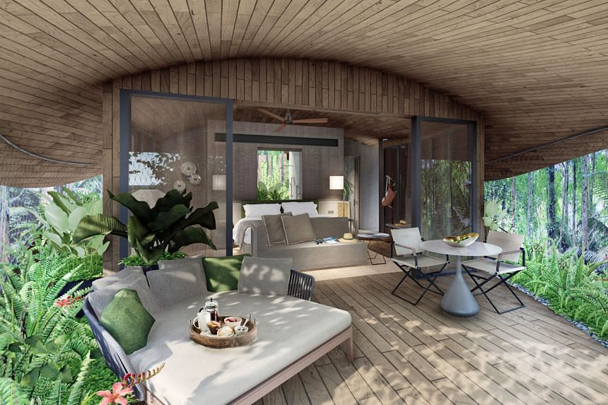 An artist's impression of the inside of a treehouse at the future Mandai eco-resort, which will occupy only previously disturbed areas to minimise the need to cut down trees. PHOTO: MANDAI PARK HOLDINGS
