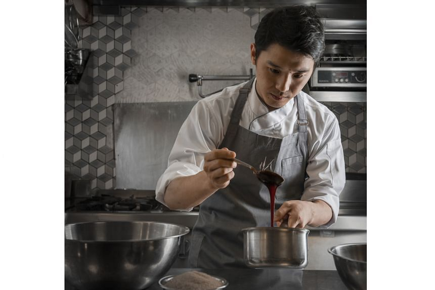 Chef Takuya Yamashita (above) is formerly from Tokyo's one-Michelin-starred Ciel et Sol.