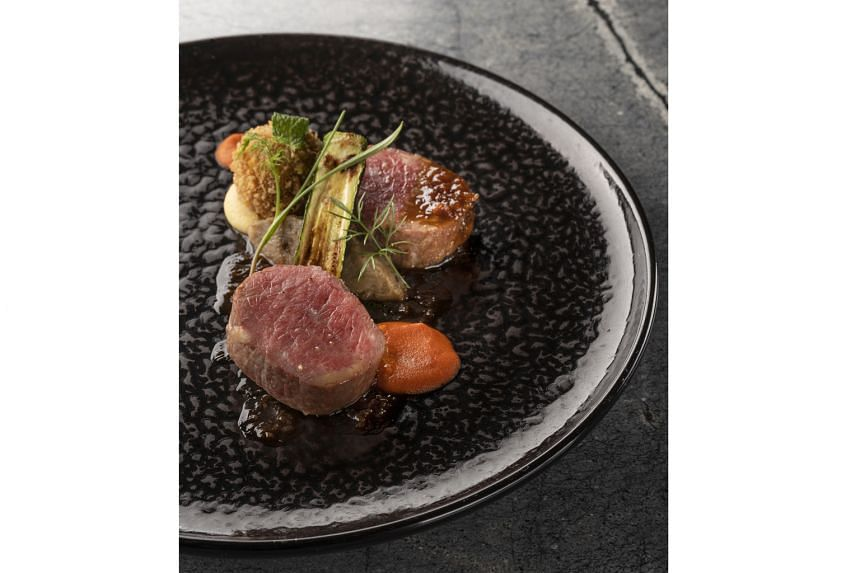Menu highlights at the new Whitegrass include Lamb Loin (above), with capsicum, aubergine and zucchini.