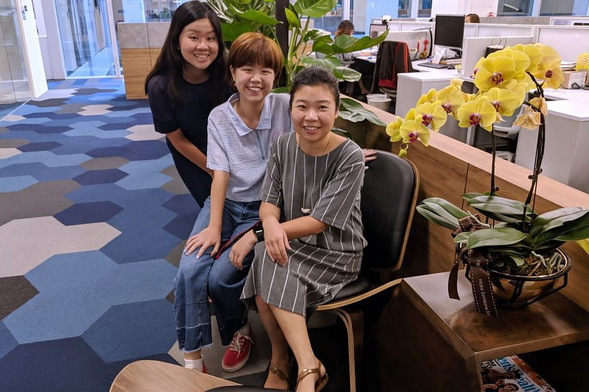 (From left) Eunice Quek, Desiree Loh and Melissa Sim.