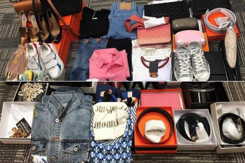 A total of 370 pieces of trademark-infringing goods with an estimated street value of $28,000 were seized.