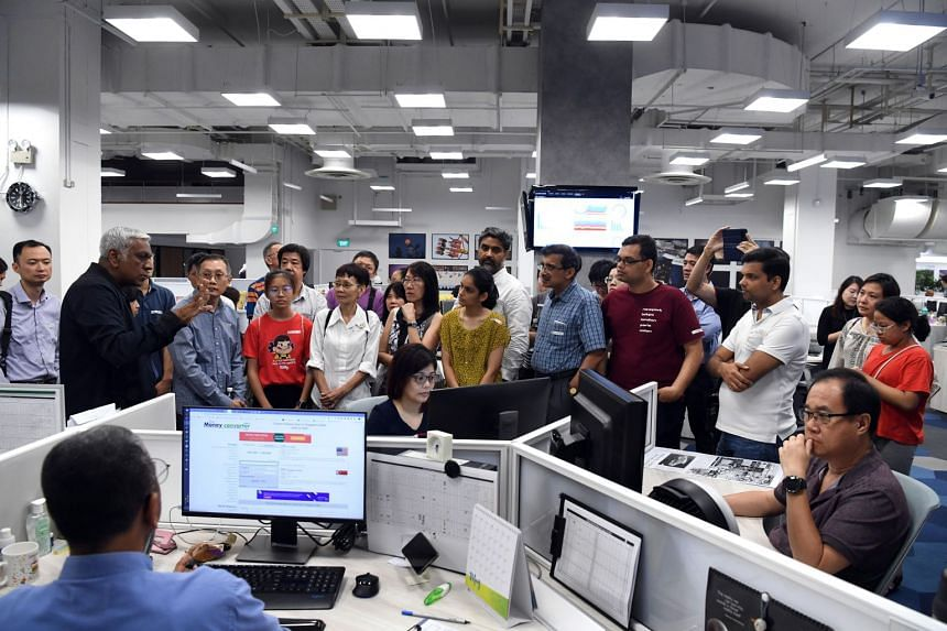 Throughout the visit, the group got to interact with senior ST staff, who explained how the enhanced use of data and multimedia in the revamped newsroom helped journalists and editors better meet readers' needs.