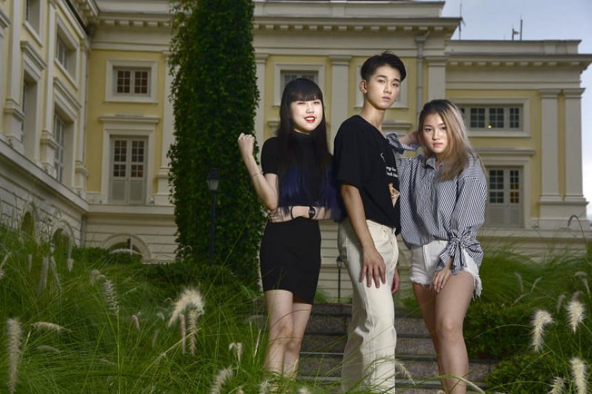 Maybe Asia's dates for hire include (from left) Desiree Chong, 23,  Dickson Chow, 21, and Winnie Choy, 18.