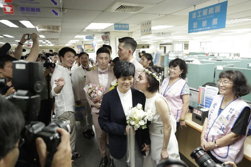 Some 300 same-sex couples are expected to register as married.