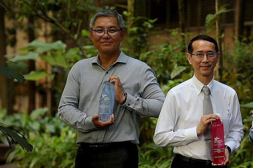 Associate Professor Tan Thai Lian (far left), who is now deputy chairman of the medical board at the Woodlands Health Campus, trained as a geriatric specialist in the mid-1990s under Professor Pang Weng Sun.