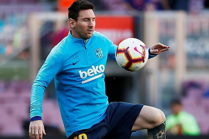 Valencia must be wary of Barcelona's Lionel Messi who has 50 goals in all competitions this season.