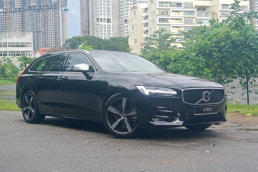 Equipped with a turbocharged and supercharged 2-litre engine, the Volvo V90 clocks a century sprint of 6.1 seconds. The boot of the Volvo V90, with rear seats folded down, can fit a full-sized bicycle and still has extra room.