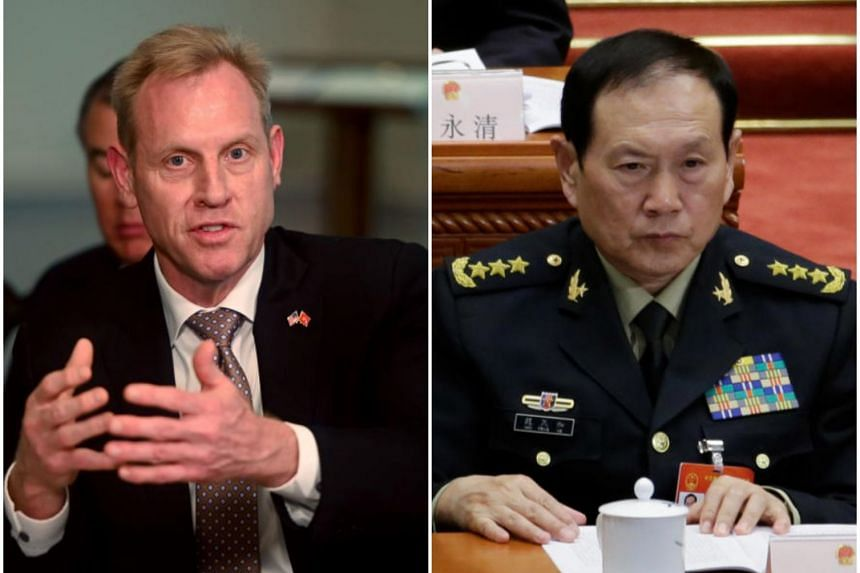 Acting US Defence Secretary Patrick Shanahan (left) and Chinese defence Minister Wei Fenghe wil meet at the Shangri-La.