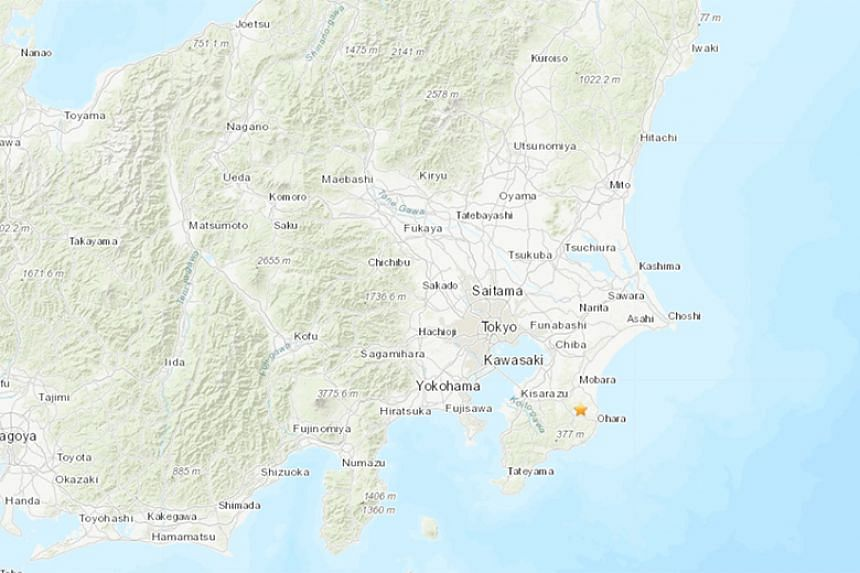 The epicentre of the earthquake was southern Chiba, about 60km south-east of the capital.
