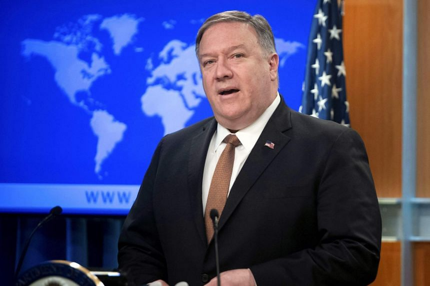 US Secretary of State Mike Pompeo speaks at the State Department in Washington, DC, on April 8, 2019.