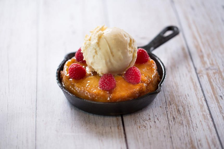Pineapple Upside Down Cake at Native Kitchen.