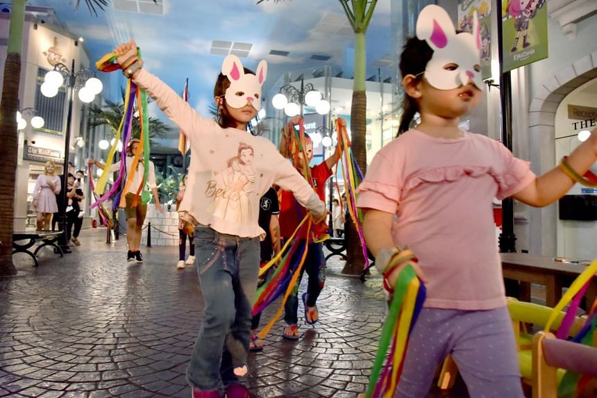 Children participate in a Safari-themed City Parade which happens at 1.30pm and 4.30pm.