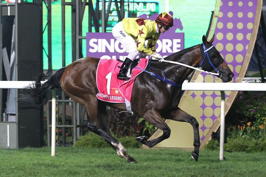 Hong Kong's champion jockey Zac Purton steering the Caspar Fownes-trained Southern Legend to victory in last year's Kranji Mile. The combination can achieve a double tonight.