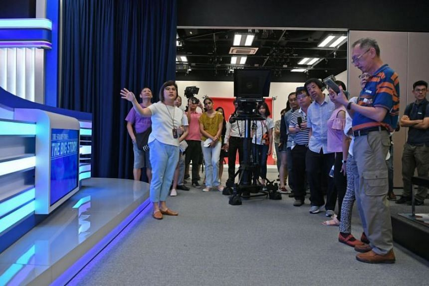 The visitors were able to explore and snap photos of the main features of the refurbished area, including a central hub where key news editors are stationed, and a state-of-the-art video production and editing studio.