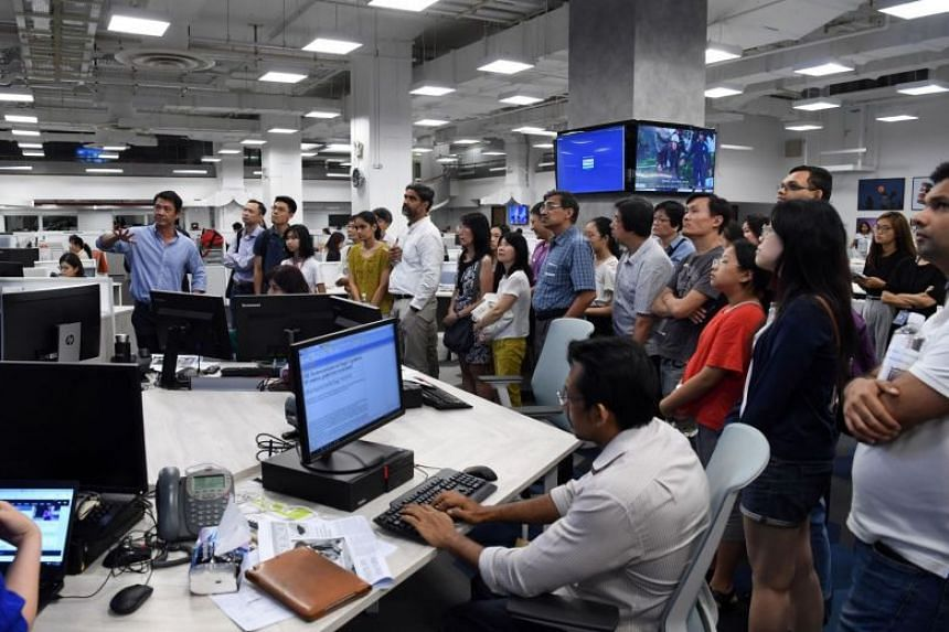 Throughout the visit, the group got to interact with senior ST staff who explained how the enhanced use of data and multimedia in the revamped newsroom helped journalists and editors better meet readers' needs.