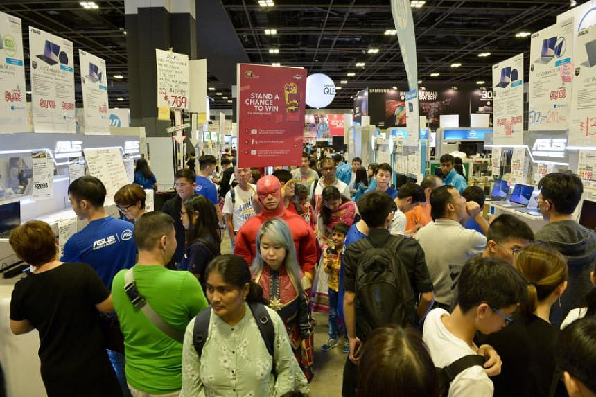 The Consumer Electronics Exhibition, held at the Suntec Singapore Convention and Exhibition Centre, ends on May 26, 2019.