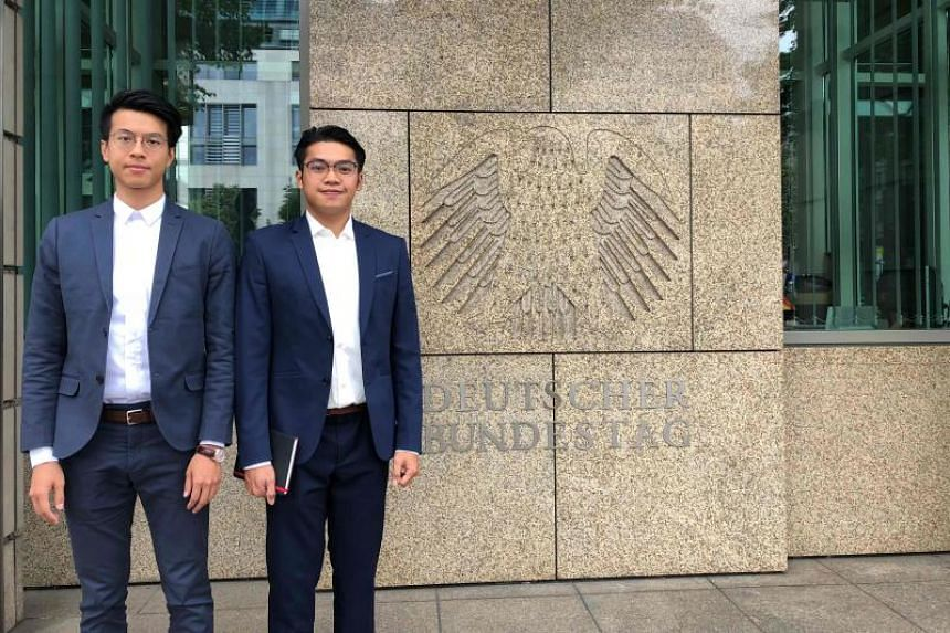 The two Hong Kong activists, Mr Ray Wong (left) and Mr Alan Li, said they were granted refugee asylum status in Germany in May 2018.
