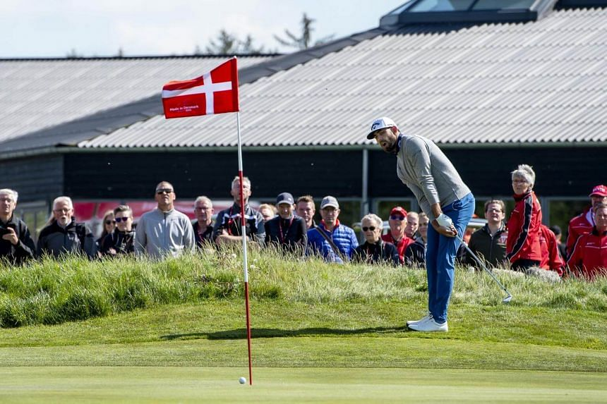 Matt Wallace in action during the first round of the golf tournament Made in Denmark, at the Himmerland Golf Club in Jutland, on May 23, 2019.