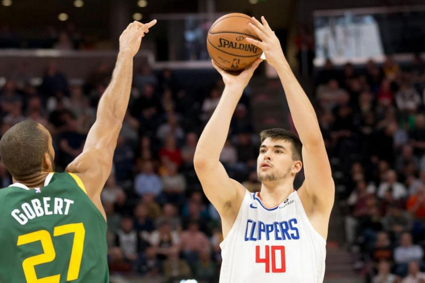 LA Clippers' Ivica Zubac in action against Utah Jazz at the Vivint Smart Home Arena, on Feb 27, 2019.