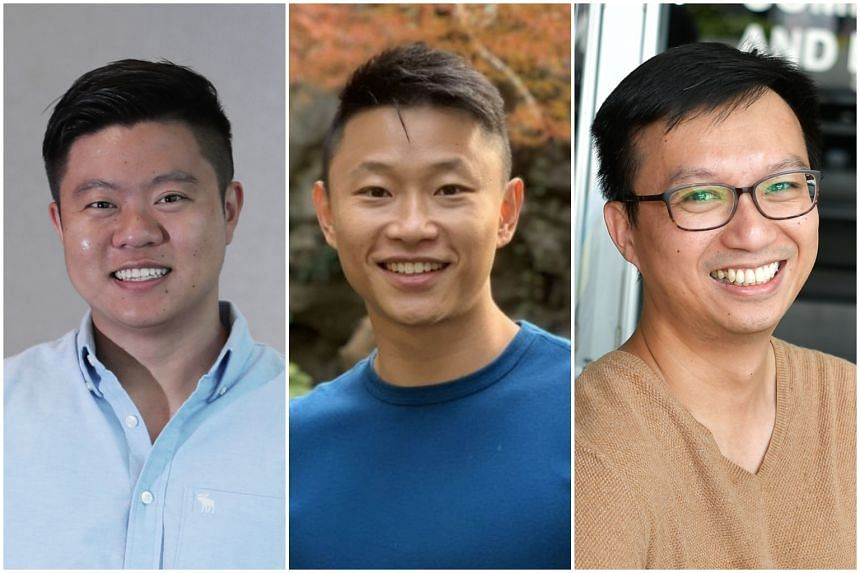 Some millennial alumni donors include (from left) Mr Ivan Chang, who donated $50,000 to Singapore Management University, Mr Alvin Poh, who gave $250,000 to Singapore Management University to start the Alvin Poh Endowed Scholarship and Mr Randy Ang, w