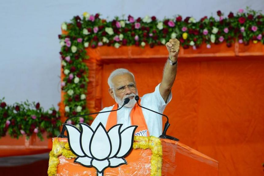 """Indian Prime Minister Narendra Modi told his 47.6 million Twitter followers that he wanted to """"seek blessings"""" from his mother Hiraba Modi in his home state of Gujarat in western India after his massive win."""
