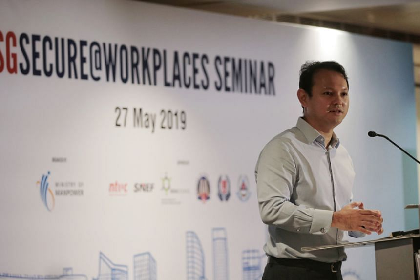 Minister of State for Manpower Zaqy Mohamad speaks at the SGSecure@Workplaces Seminar on May 27, 2019.