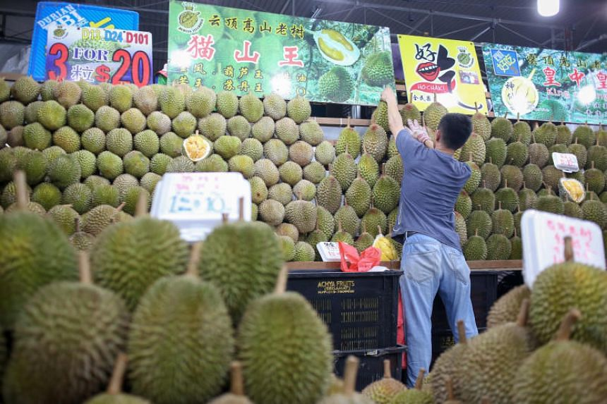 A kilogram of Mao Shan Wang durians is now selling for about $18, down from the usual price of $28.
