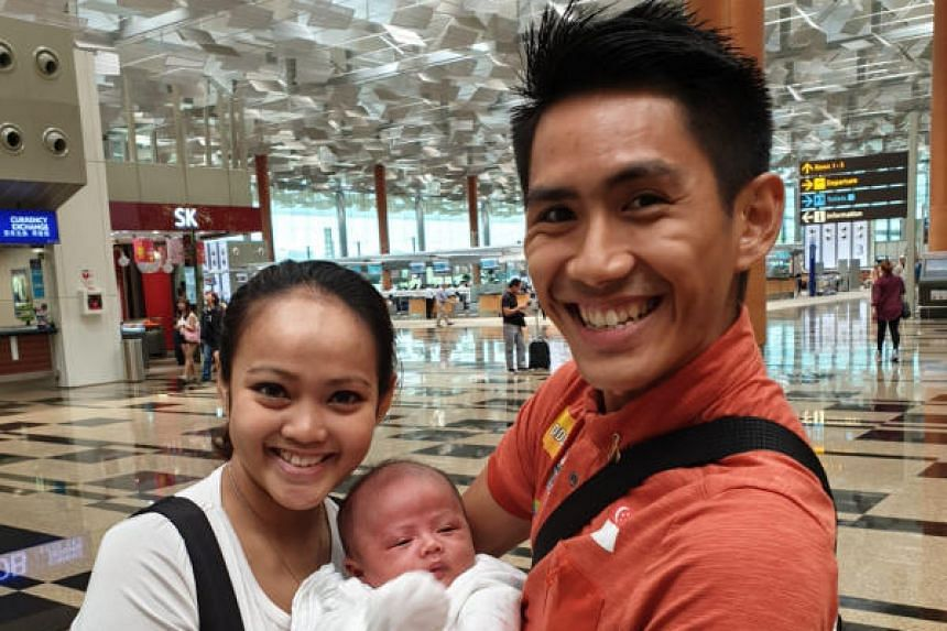 Mr Tong said that it was difficult for him to be away from his newborn son, his thoughts of the baby helped him meet the challenges he faced along the way.