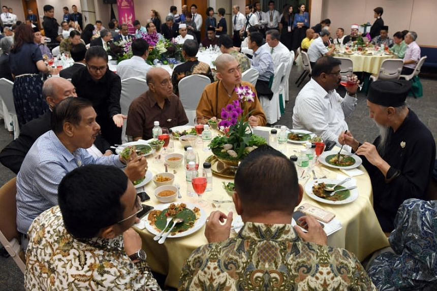 Also present at the evening meal were diplomats as well as members of grassroots organisations and leaders of different faiths in Singapore.