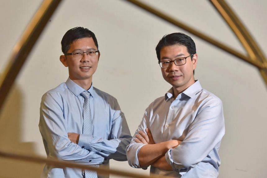Dr Tam Wai Leong (left), group leader for precision oncology at the Genome Institute of Singapore under A*Star, and Dr Daniel Tan, a senior consultant at the division of medical oncology at the National Cancer Centre Singapore, and a member of the re