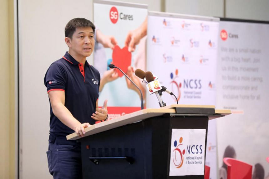 Speaker of Parliament Tan Chuan-Jin, who is the adviser to the National Council of Social Service, speaking at the Devan Nair Institute of Employment and Employability on May 27, 2019.
