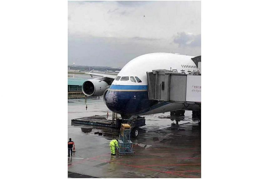 China Southern Airlines flight CZ3101 had its windscreens damaged by hailstones on May 26.