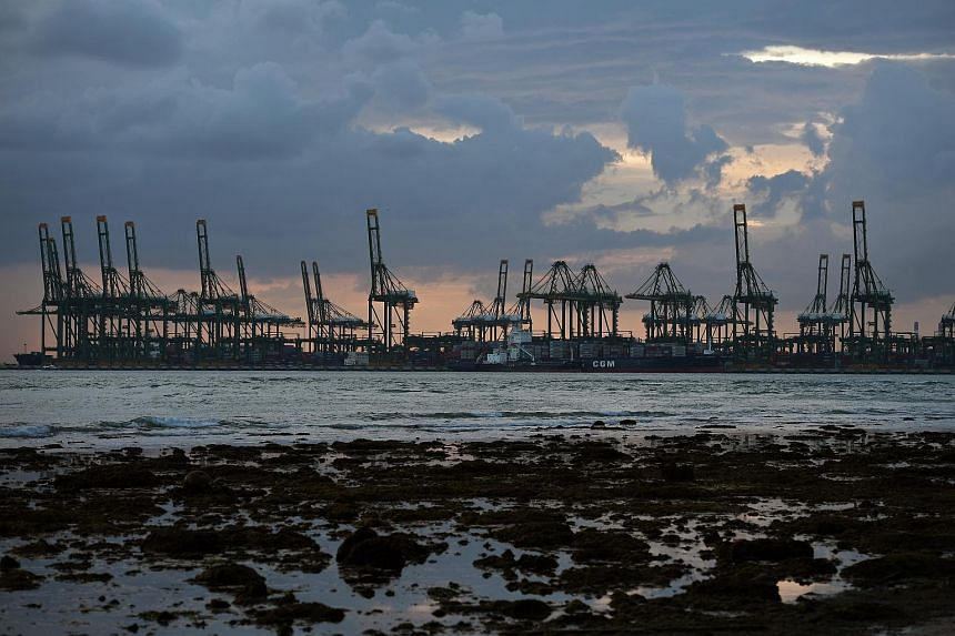 The PSA Pasir Panjang container terminal.