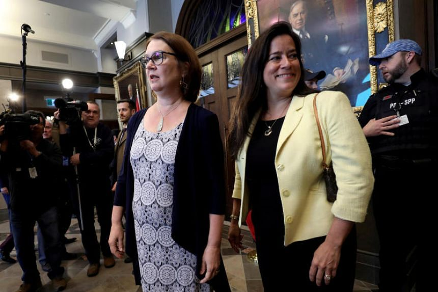 Jody Wilson-Raybould and Jane Philpott resigned amid allegations that senior Trudeau officials tried to interfere in a corporate corruption case by leaning on Wilson-Raybould when she was justice minister.