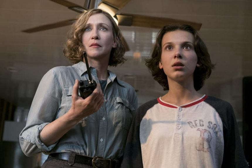 Vera Farmiga and Millie Bobby Brown (right) in Godzilla II King of The Monsters.