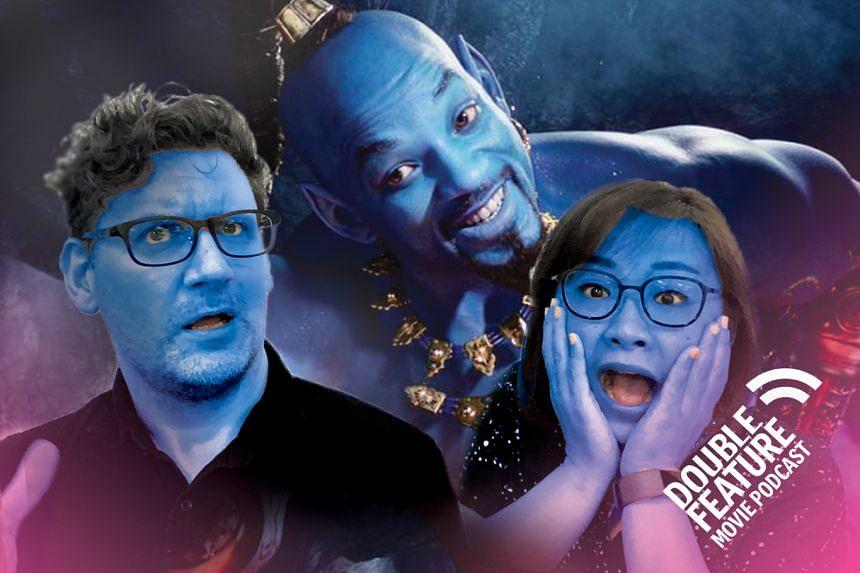 Double Feature movie review Aladdin Disney Zac Efron
