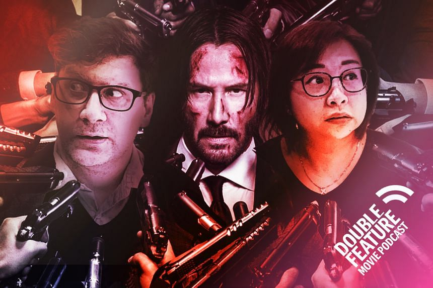 John Wick Chapter 3, review, Double Feature movie podcast, Keanu Reeves
