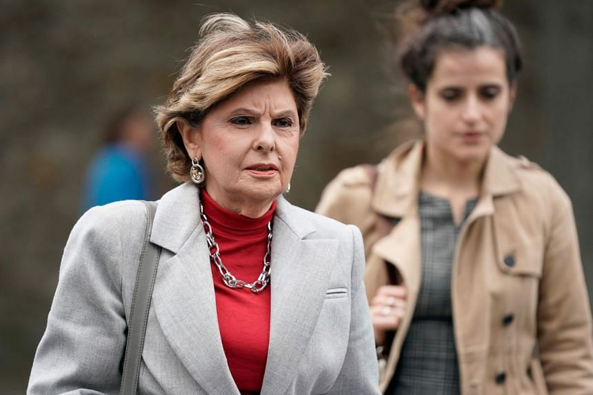 US lawyer Gloria Allred arrives to address the media on May 28, 2019, in Paris.