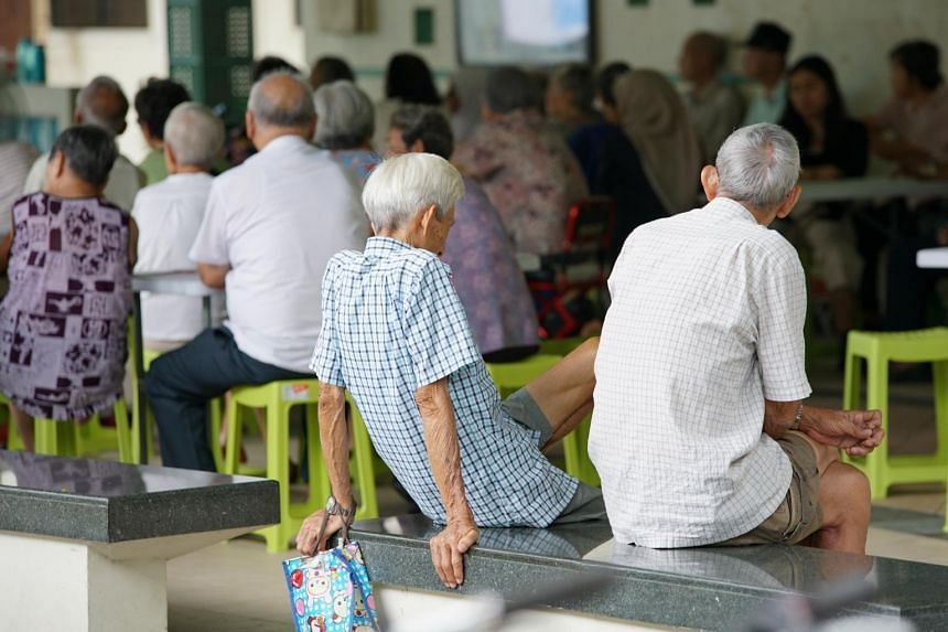 Elderly people attending a community event in Toa Payoh.
