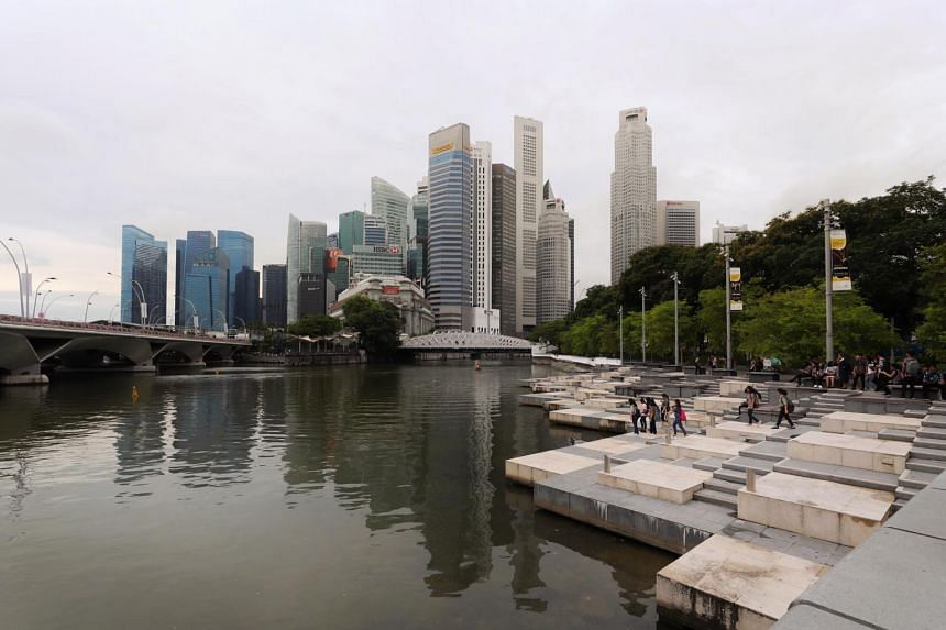 The restricted area includes the Padang, Marina Bay (pictured) and parts of Bukit Merah.
