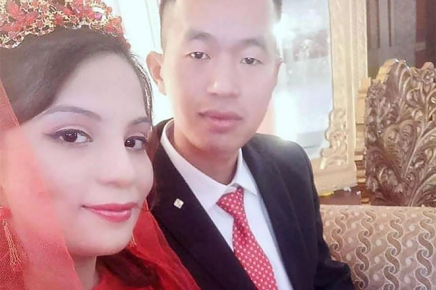 Rabia Kanwal and her husband, Zhang Shucheng, in Islamabad, Pakistan, in January 2019.