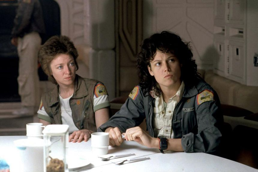 The role Sigourney Weaver (left) played was originally written as a man.