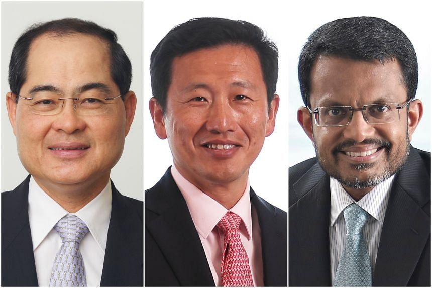 (From left) Mr Lim Hng Kiang, special adviser to the Ministry of Trade and Industry, has been reappointed as member and deputy chairman of the Monetary Authority of Singapore (MAS) board of directors. Mr Ong Ye Kung, Minister for Education, and MAS m