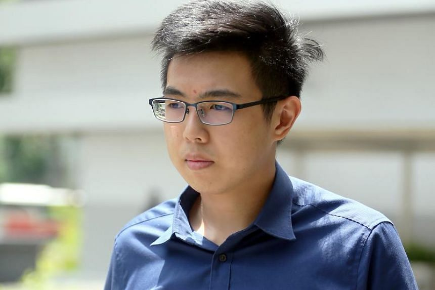 Dylan Loy Zhong Huan attacked his father with a steak knife outside the latter's Bishan flat on Nov 29, 2016.